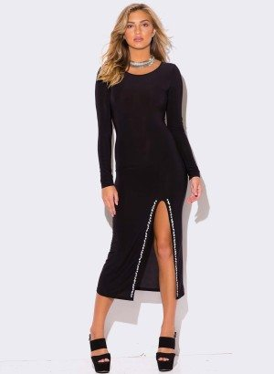 black-bejeweled-high-slit-long-sleeve-evening-cocktail-party-fitted-bodycon-club-ankle-maxi-dress__1