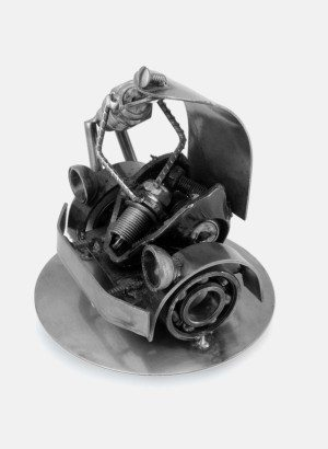 RUSTIC CAR MECHANIC SCULPTURES Recycled Auto Parts Sculpture Metal Art Mexico