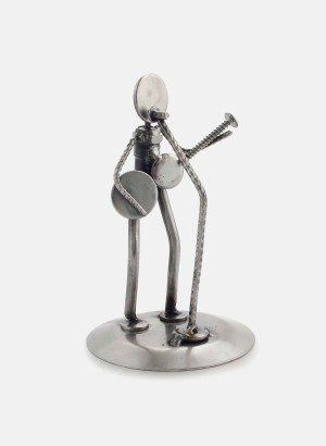 RUSTIC FOLK SINGER SCULPTURES Auto part sculpture