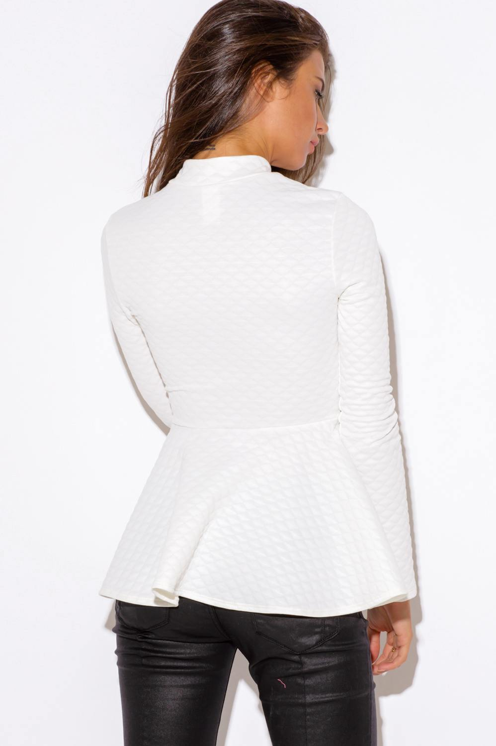 BCBGMAXAZRIA Off White Shasha Peplum Blazer. $ $ at Belk. Bcbgmaxazria Shasha Peplum Blazer. This striking reimagining of the classic blazer silhouette is .