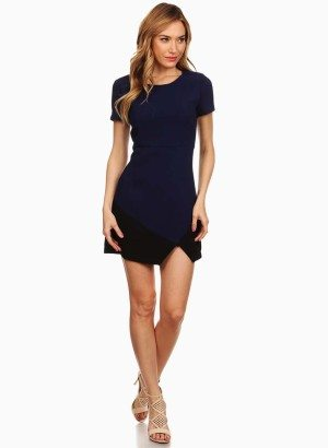 Renjo New York Two Tone Asymmetrical Sullivan Dress