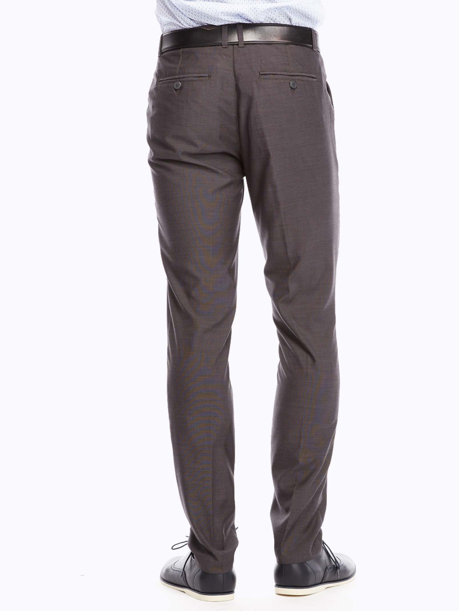 Men's Grey Straight-Leg Trousers