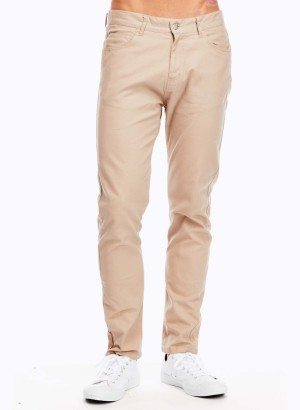 Khaki Slim Fit Jeans for Men