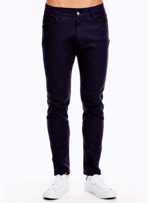 Men's Navy Blue Slim Fit Jeans