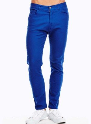Men's Royal Blue Slim Fit Jeans
