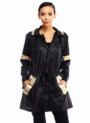 Black & Gold Stylish Raincoat
