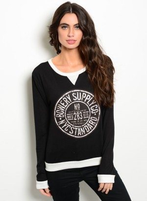 Bowery Supply Co. Black & Ivory Sweater