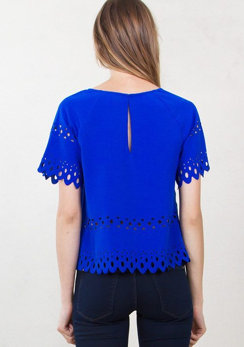 cobalt blue laser cut detail top modishonlinecom