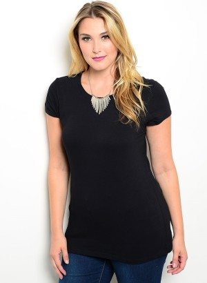 Black Plus Size Stretchy Top
