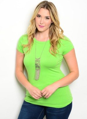 Lime Plus Size Stretchy Top