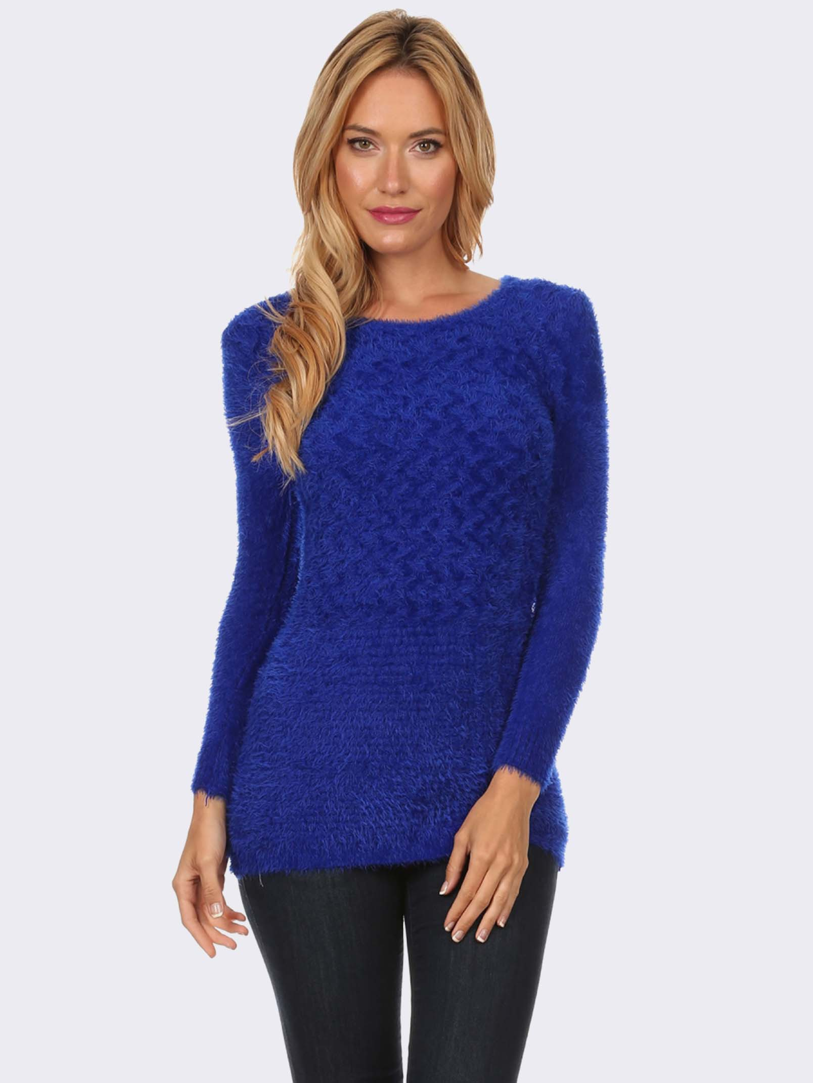 Find blue knit sweater at ShopStyle. Shop the latest collection of blue knit sweater from the most popular stores - all in one place.