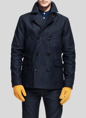 WESC DICK RAW DENIM PEACOAT