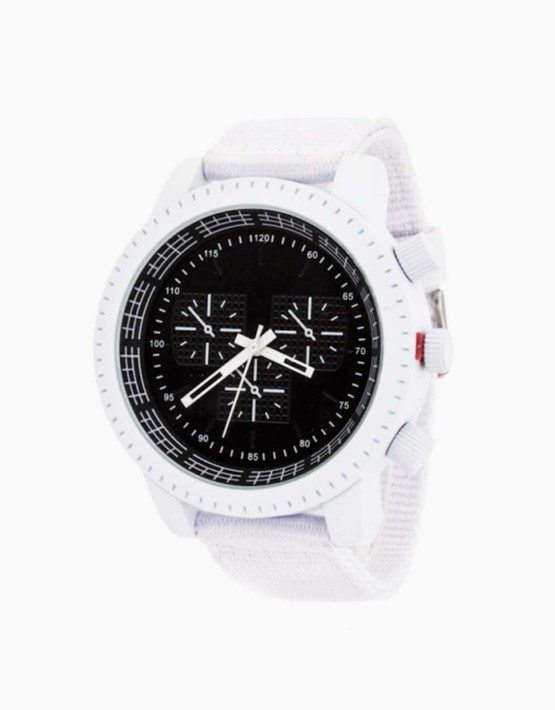 White Blue Trendy Unisex Colored Watch