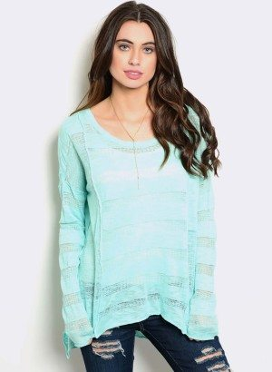 AQUA TRANSPARENT SWEATER