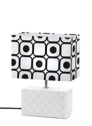 Black White Modern Pop Art Table Lamp
