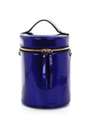 Blue Cylinder Cross-Body Bag