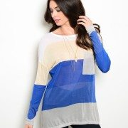 Multi Color Sheer Sweater