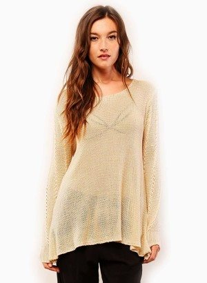 Lumiere Cream Transparent Sweater