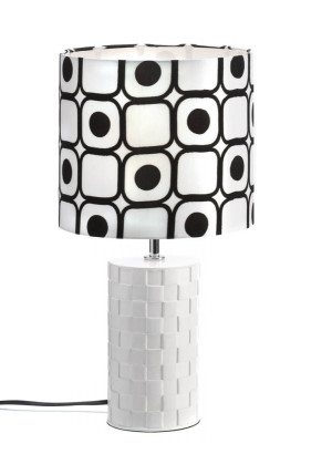 Modern Black White Table Lamp