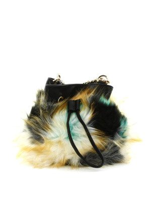 Multi Color Cross-Body Fur Bag