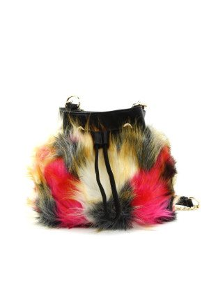 Multi Color Fur Cross-Body Bag