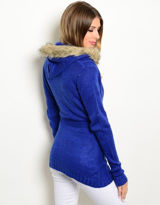 Royal Blue Hooded Sweater