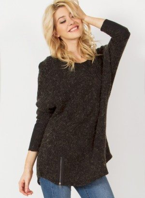 Oversized Dolman Sleeve Sweater by Sugarlips