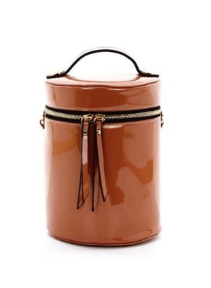 Tan Cylinder Cross-Body Bag