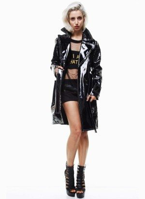 TOV Lovely Lattice Long Rain Coat