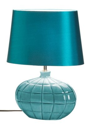 Turquoise Ceramic Table Lamp