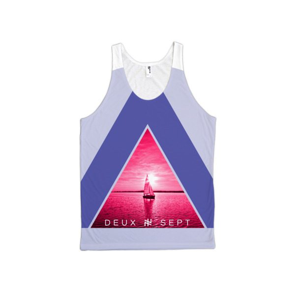 Deux Sept Triangle Sails Classic Fit Graphic Tank Top