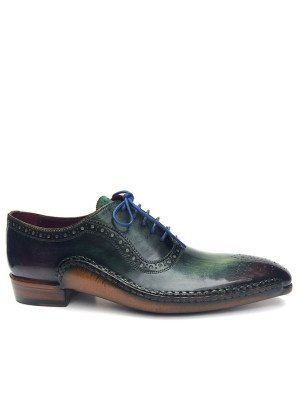 Paul Parkman Green Purple Handmade Oxfords