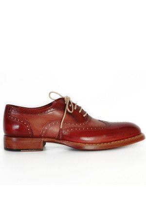 Paul Parkman Bordeaux Camel Wingtip Oxfords