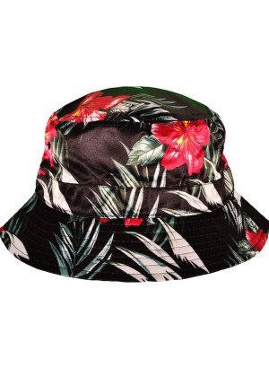 Black Floral Bucket Hat