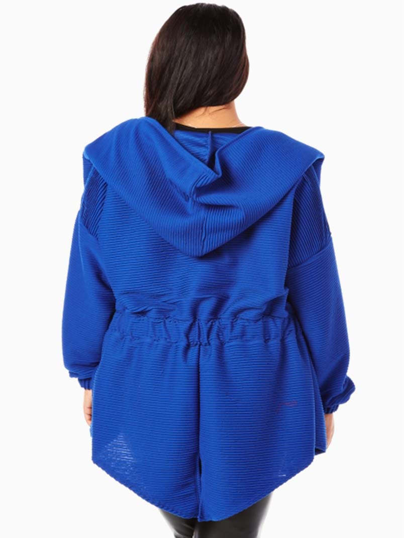 Royal Hooded Plus Size Jacket