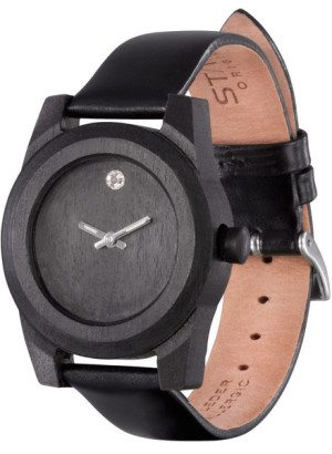 Lady Blackwood Crystal Wooden Watch