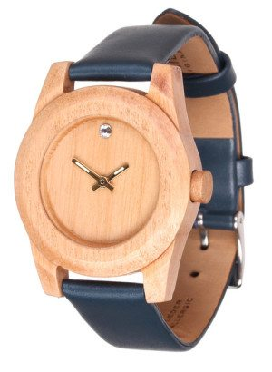 Lady Pearwood Crystal Wooden Watch