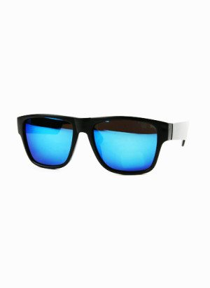 Blue Mirror Lens Wayfarer Sunglasses