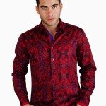 Red Geometric Print Shirt