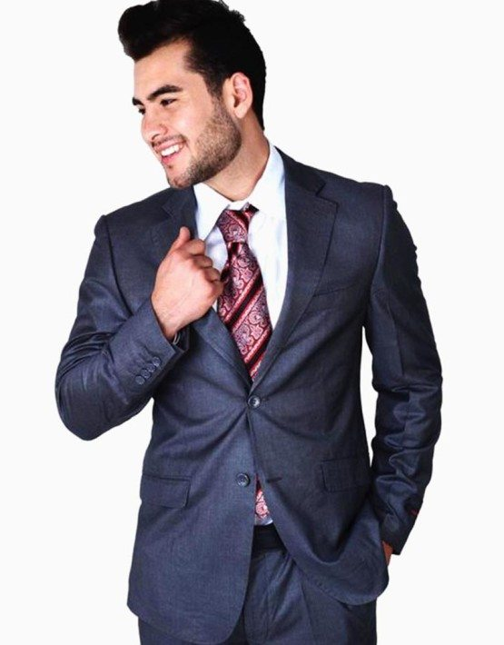 Medium Grey Two Button Suit