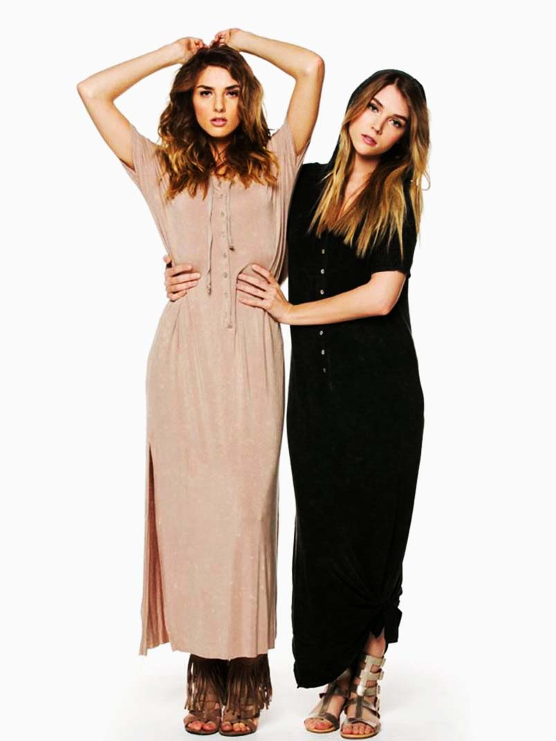 POL Hooded Maxi Dress