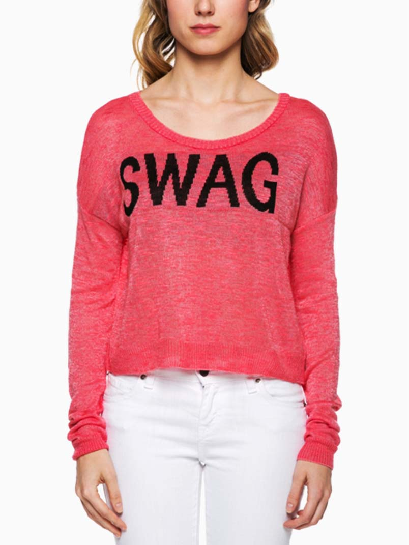 Fiusha Knit Swag Sweater