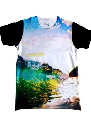 Fly Peacock Fresh Line Wave Tee