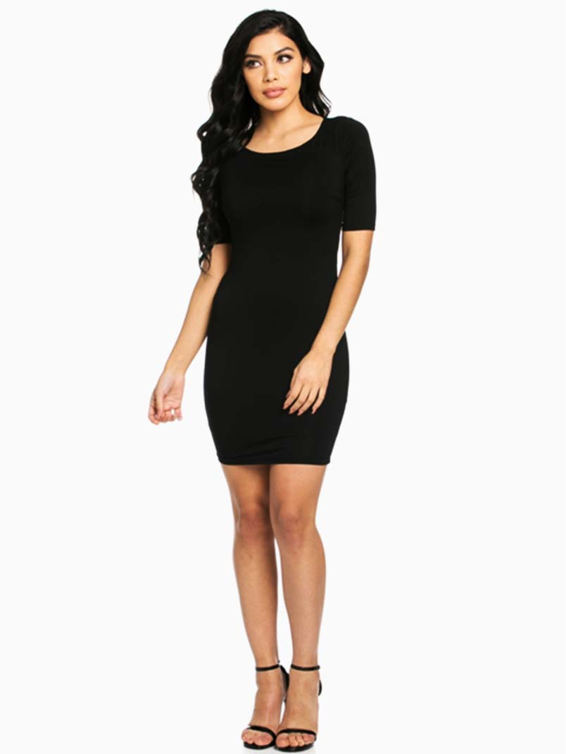 Hera Collection Black Modal Mini Dress