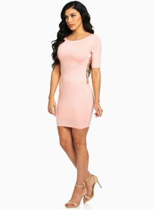 Hera Collection Pink Modal Mini Dress