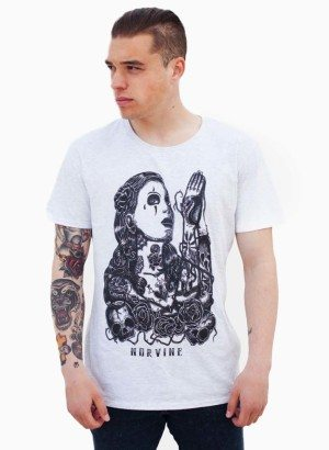 Norvine Mélange Grey Prayer T Shirt