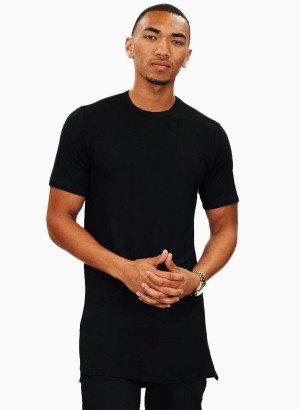 Plumbing M.i.U Black Short Sleeve Long-line Shirt