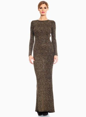 Red Loft Collection Black Gold Sequin Evening Maxi