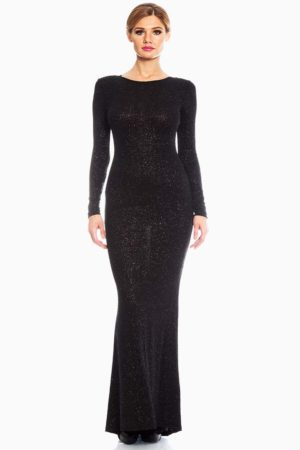 Red Loft Black Sequin Evening Maxi