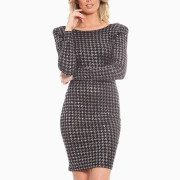 Houndstooth Cocktail Dress